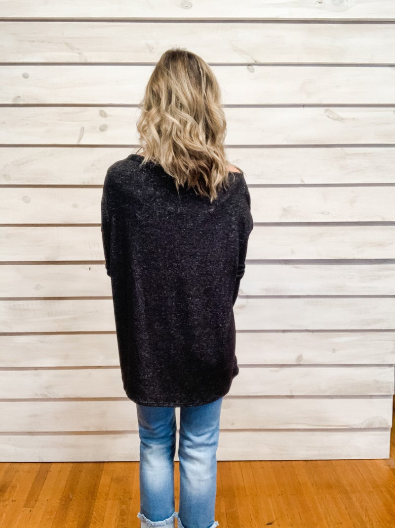 Charcoal Soft Slouchy Top