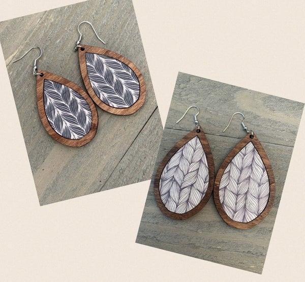 DeVane + Co. Wood and Cork Earrings