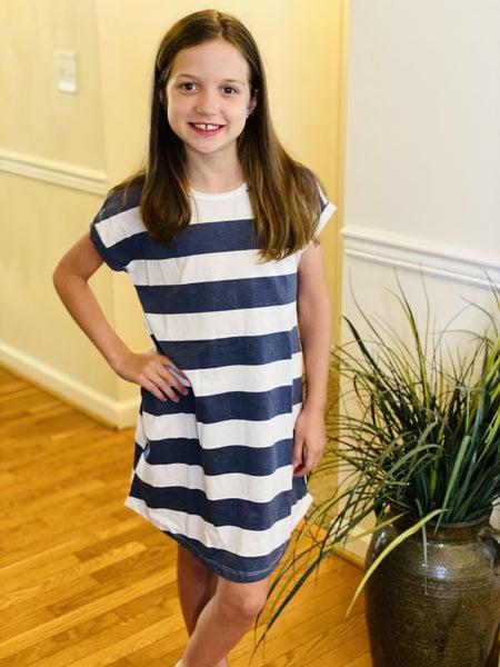 Girls Rugby Stripe Dress
