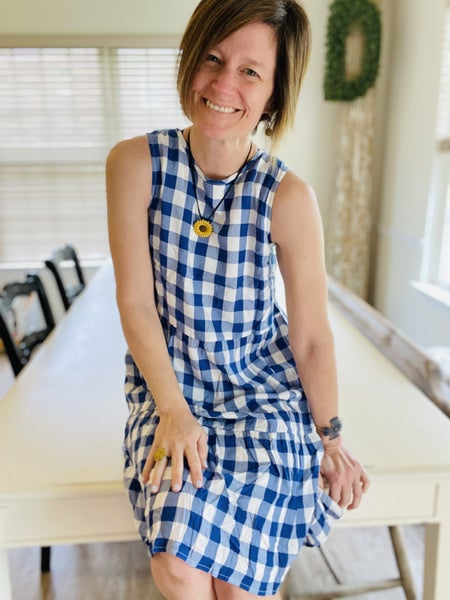 Fly With Me Gingham Dress
