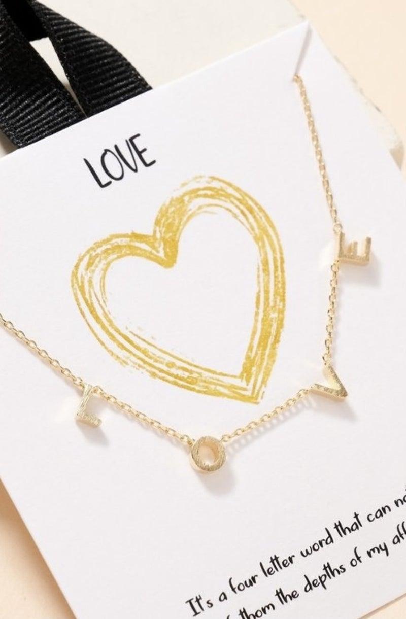 L O V E Necklace