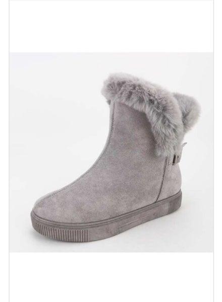 Grey Fur Boot *Final Sale*