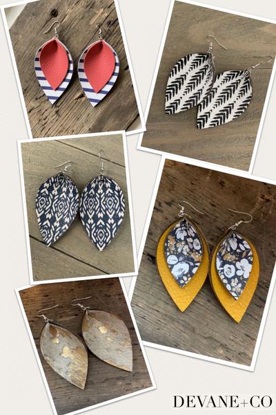 DeVane+Co. Leather Earrings