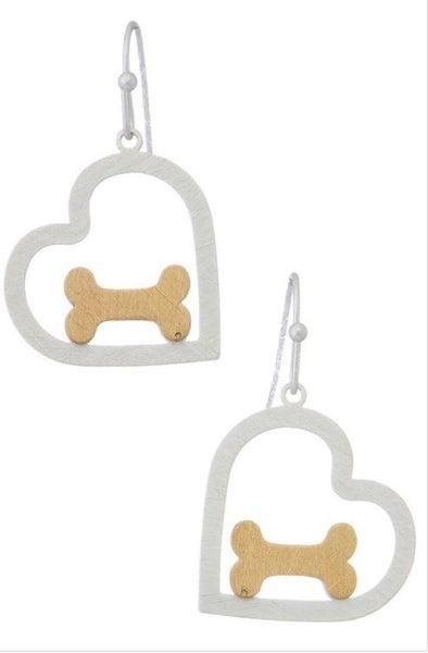 Give a Dog a Bone Earring (2 colors)