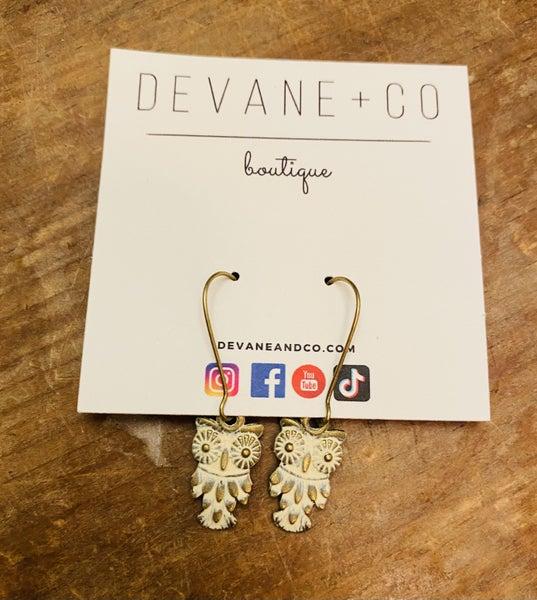 DeVane+Co. Vintage Owl Earrings