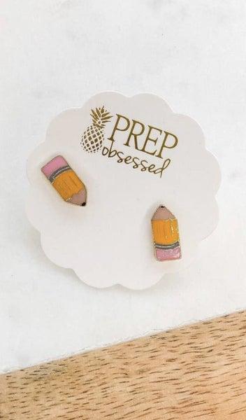 Pencil Stud Earrings