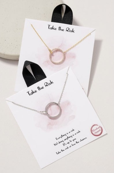 The Open Circle Necklace (2 colors)