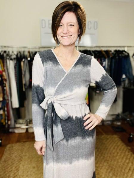 Shades of Grey Hacci  Dress *Final Sale*