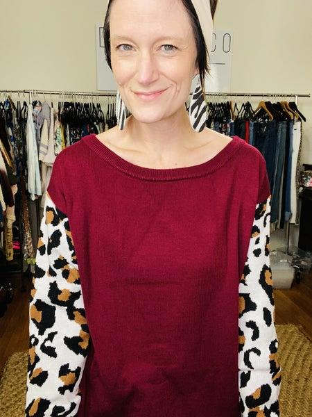 Lady in Leopard Sweater *Final Sale*
