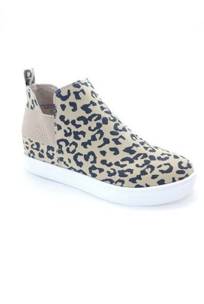 The Leopard High Top Sneaker