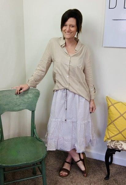 Summer Stripe Skirt by Easel