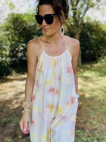 Summer Breeze Tie Dye Romper by Easel