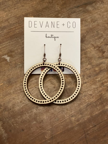 DeVane + Co. Notched Wood Hoops