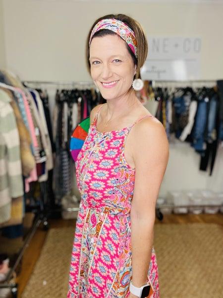 Pinky Paisley Dress