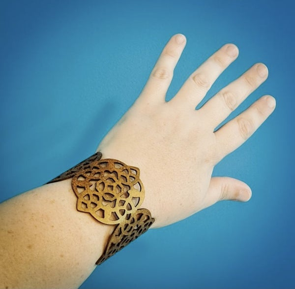The Rose Leather Cuff (4 colors)