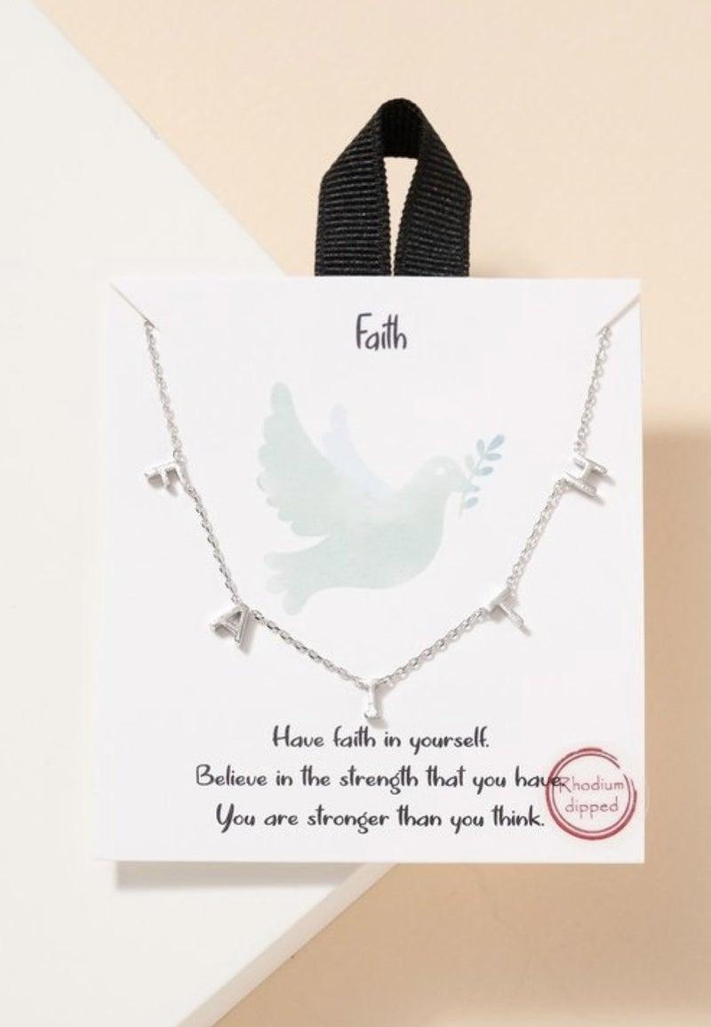 F A I T H Necklace (2 colors)