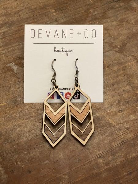 DeVane + Co. Maple Wood Earrings