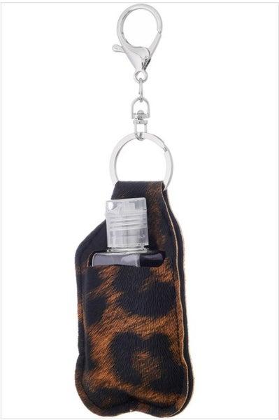 Animal Print Sanitizer Keychain (2 colors)