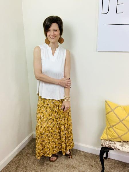 Flower Fields Maxi Skirt