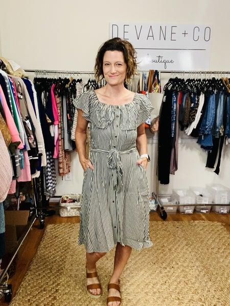 The Hamptons Seersucker Dress (2 colors)