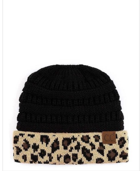 Leopard C.C Beanie (2 colors) *Final Sale*