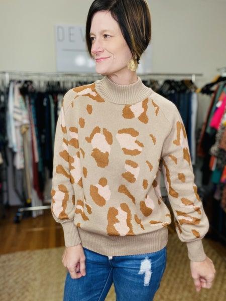 Mocha Leopard Sweater *Final Sale*