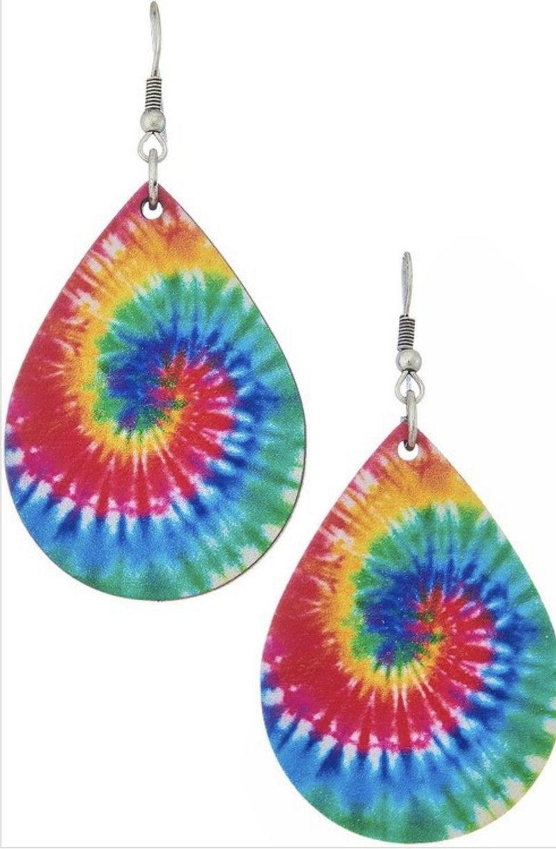 Funky Tie Dye Earring