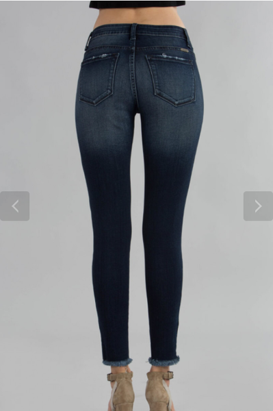 Kancan Dark and Light Wash Skinny Jeans