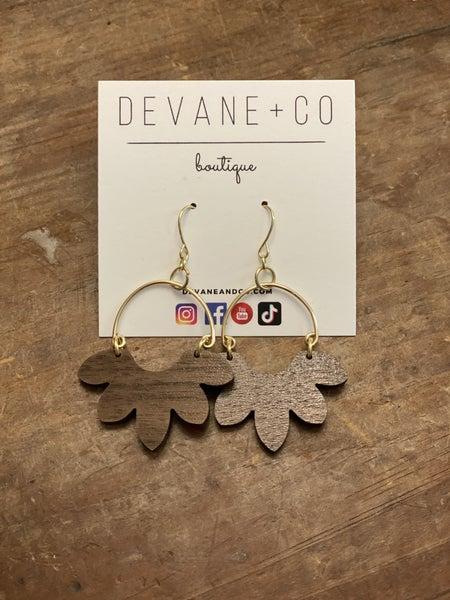 DeVane + Co. Botanical Wood Earrings