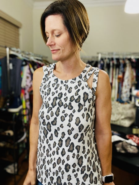 The Anna Leopard Top