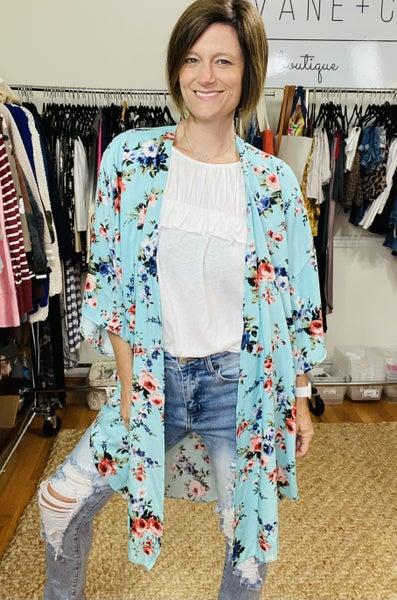 Stay a While Floral Kimono