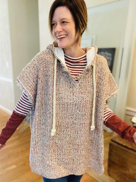 Boho Ponchi Hooded Sweater *Final Sale*
