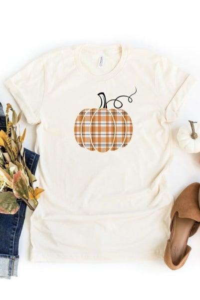 The Preppy Plaid Pumpkin Tee