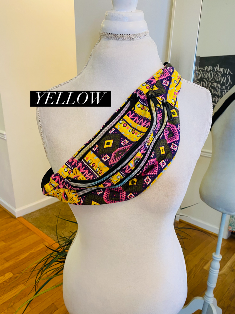 Tribal Fanny Pack/Crossbody  Bag (6 colors)