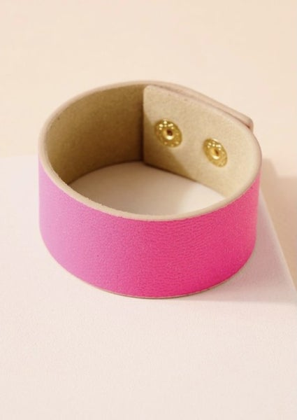 The Snap Cuff Leather Bracelet