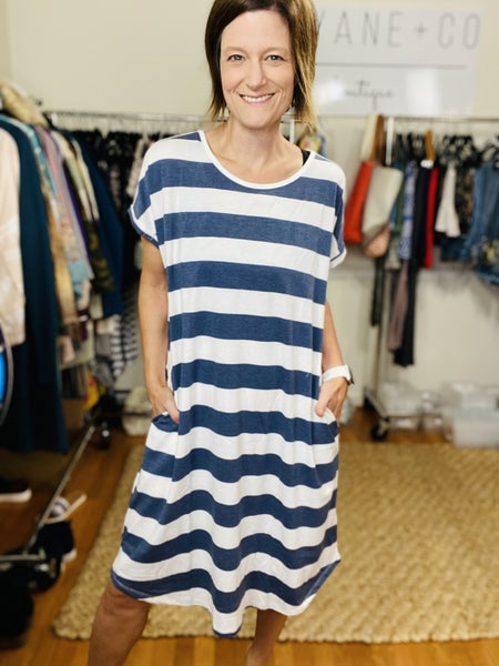 Ladies Rugby Stripe Dress