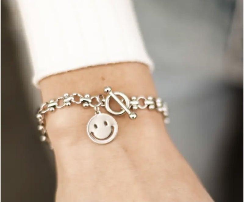 Happy Daze Toggle Chain Bracelet (2 colors)