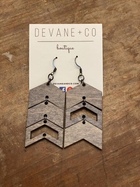 DeVane + Co. Arrow Wood Earrings