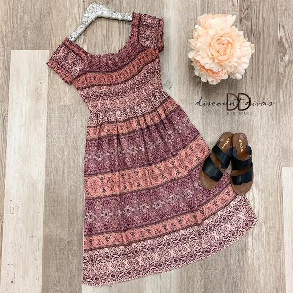 Off The Shoulder Floral Print Dress *Final Sale*