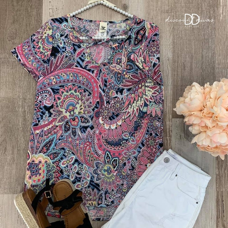 Pay Me In Paisley Top