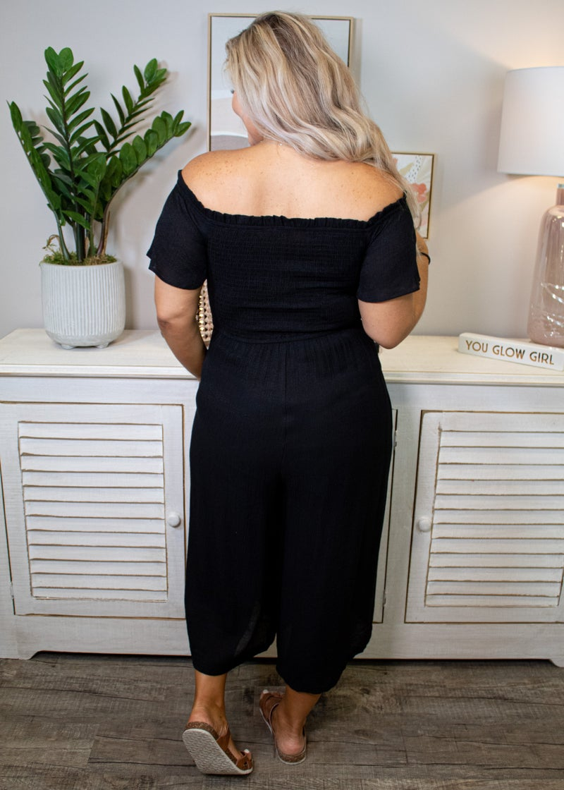 Back In Black Midi Jumpsuit