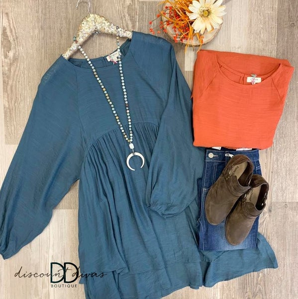 Long Sleeve Baby Doll Tunic