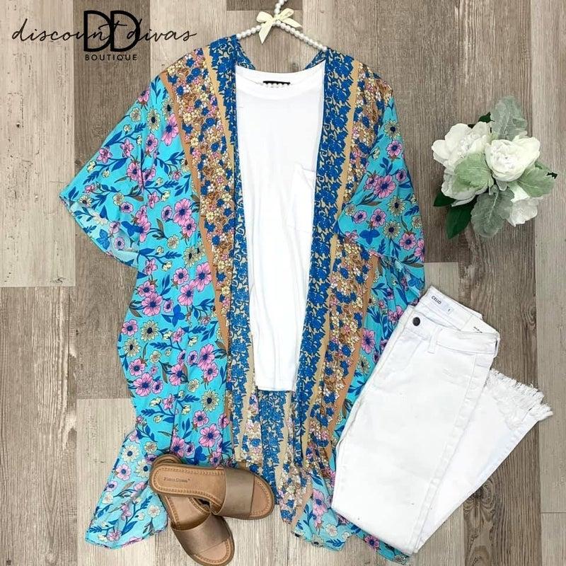 As Free As The Ocean Kimono