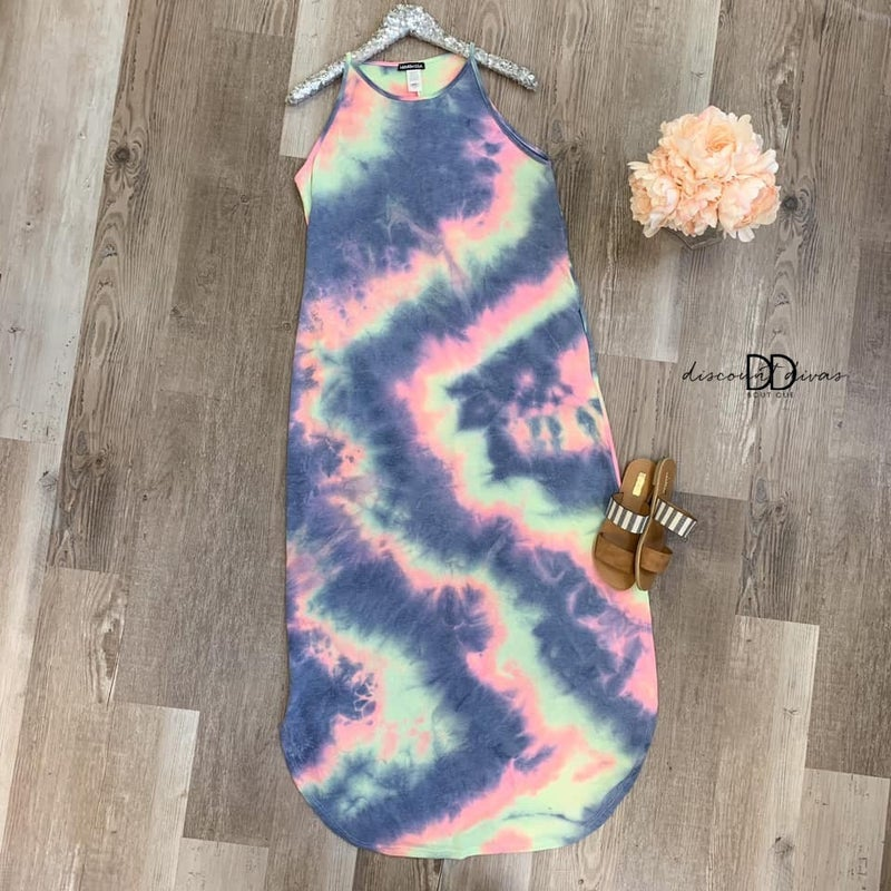 Too Blessed To Stress Maxi Dress