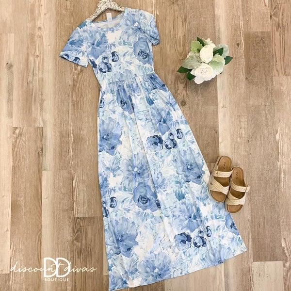 Short Sleeve Floral Print Dress