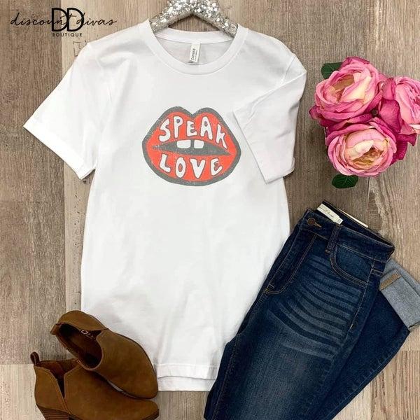 Speak Love Graphic Tee