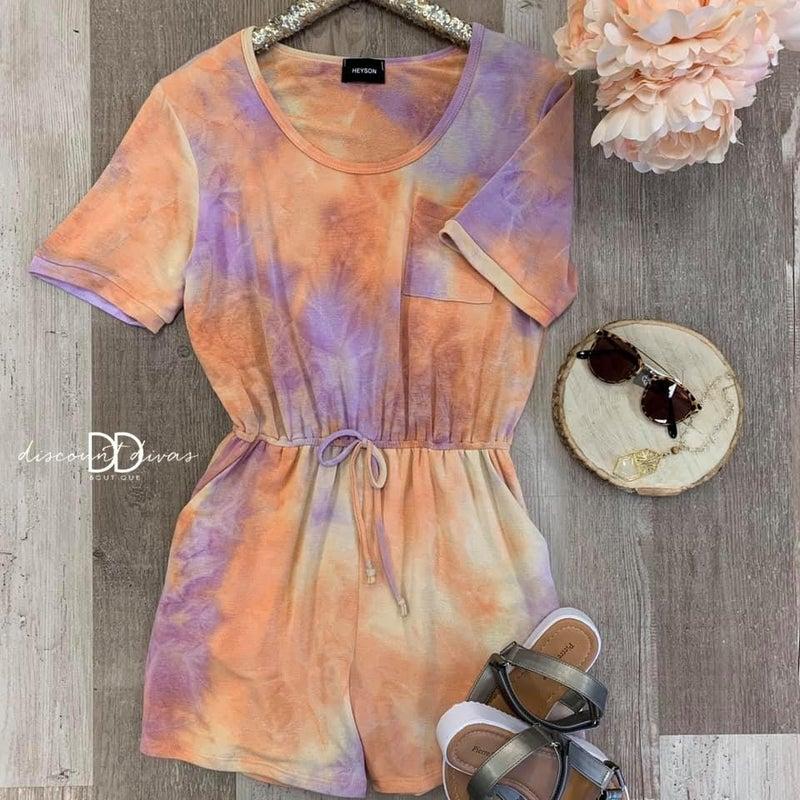 Aly Tie Dye Romper *Final Sale*