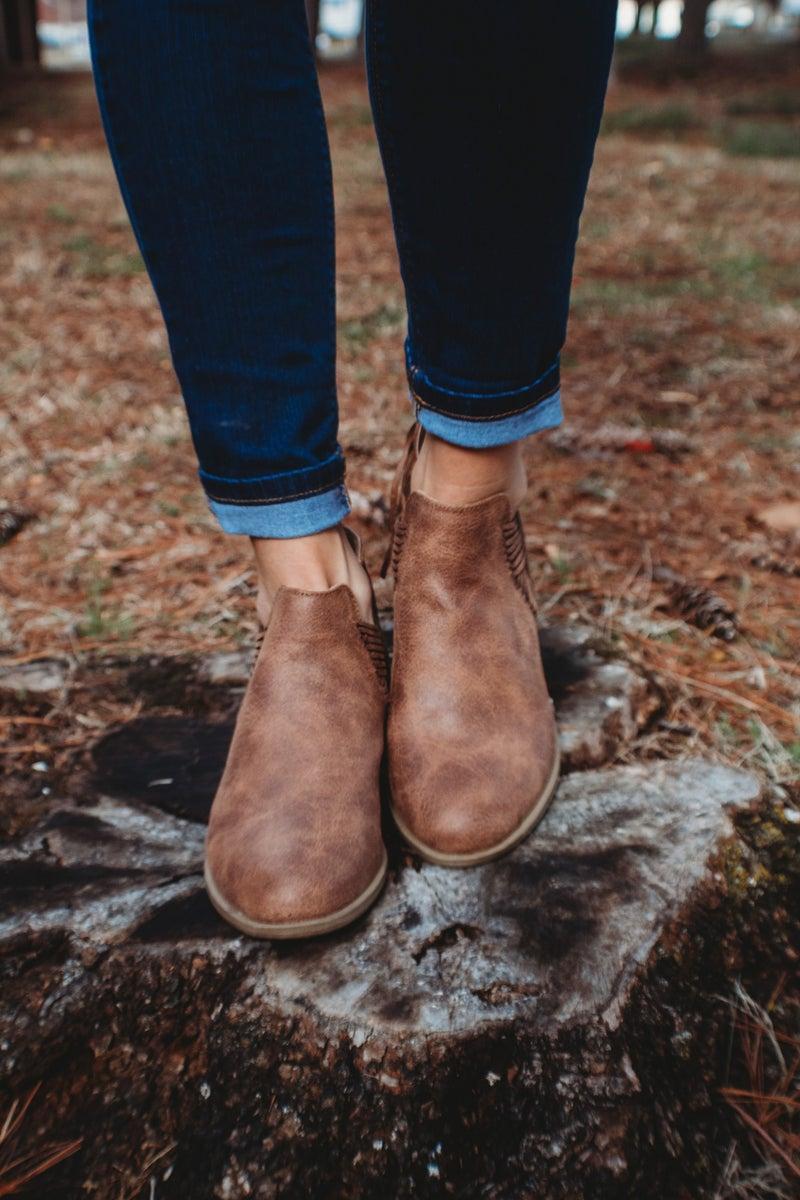 Ankle Bootie With Heel Zipper Detail *Final Sale*