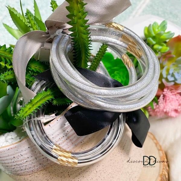 5 Stack Bracelet With Ribbon