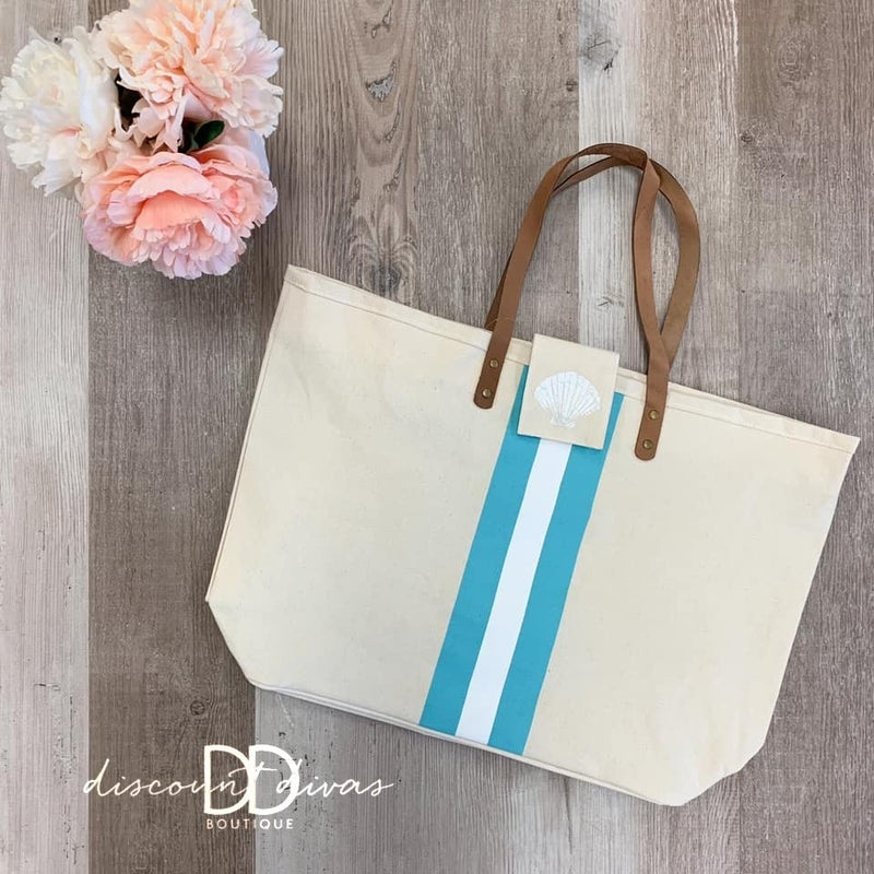 Boca Seashell Canvas Bag